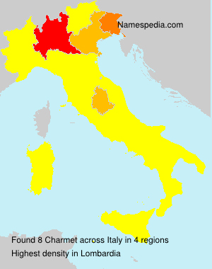 Surname Charmet in Italy