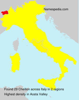 Surname Cheillon in Italy