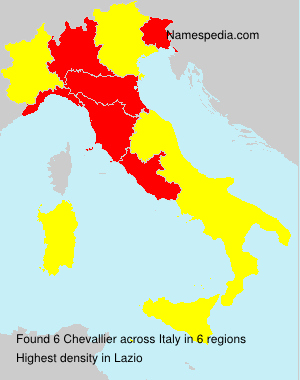 Surname Chevallier in Italy