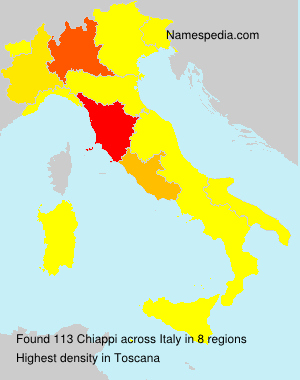 Surname Chiappi in Italy