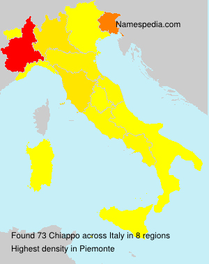 Surname Chiappo in Italy