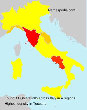 Familiennamen Chiaravallo - Italy