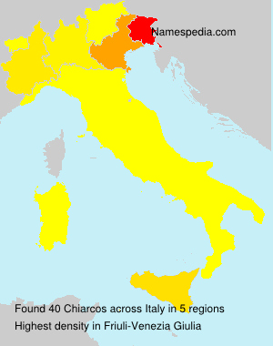 Surname Chiarcos in Italy