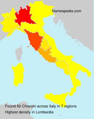 Surname Chiaroni in Italy