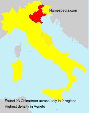 Familiennamen Chimenton - Italy