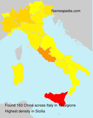 Surname China in Italy