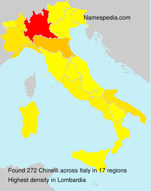 Surname Chinelli in Italy