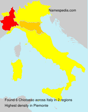 Surname Chiotasso in Italy