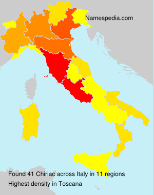 Familiennamen Chiriac - Italy