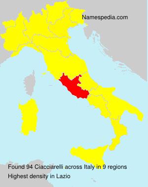 Familiennamen Ciacciarelli - Italy