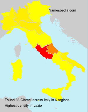 Surname Ciamei in Italy