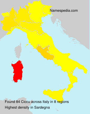 Surname Ciccu in Italy