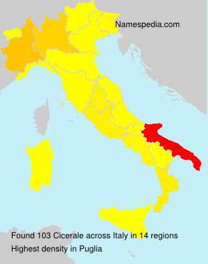 Surname Cicerale in Italy