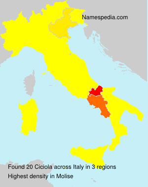 Surname Ciciola in Italy