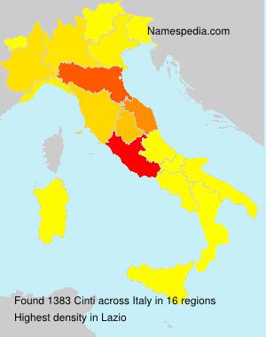 Familiennamen Cinti - Italy