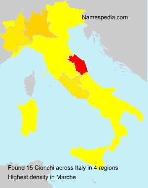Surname Cionchi in Italy