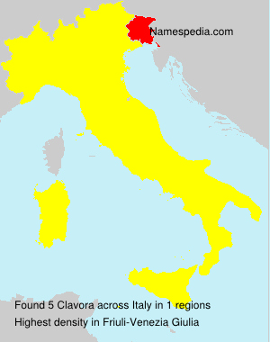 Surname Clavora in Italy