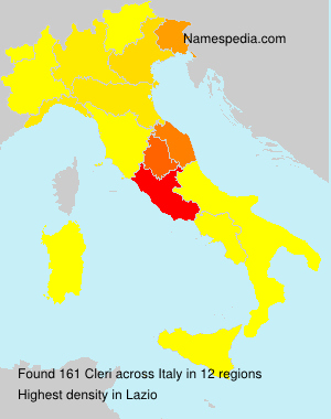 Surname Cleri in Italy