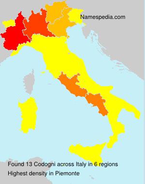 Surname Codogni in Italy