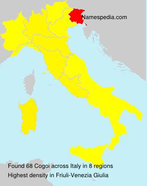 Familiennamen Cogoi - Italy