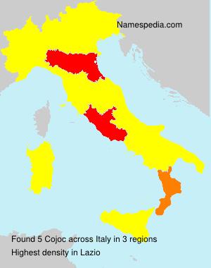 Familiennamen Cojoc - Italy