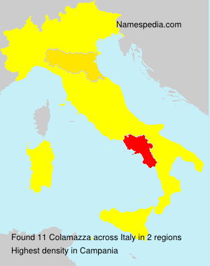 Surname Colamazza in Italy