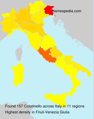 Surname Colonnello in Italy