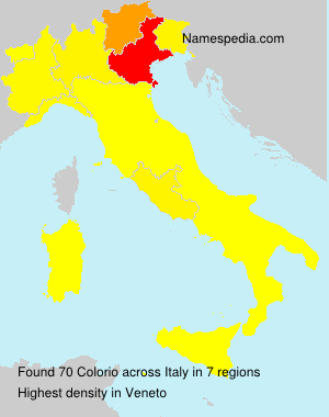 Surname Colorio in Italy