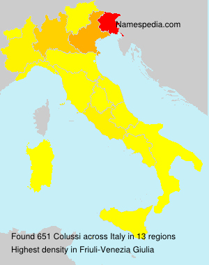Surname Colussi in Italy