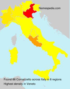 Familiennamen Comazzetto - Italy