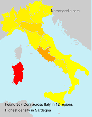 Surname Coni in Italy