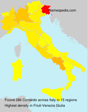 Surname Contardo in Italy