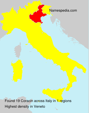 Surname Coracin in Italy
