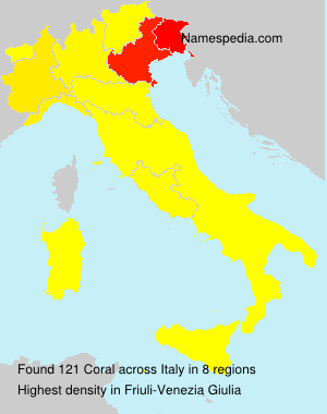 Surname Coral in Italy