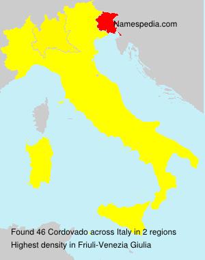 Surname Cordovado in Italy