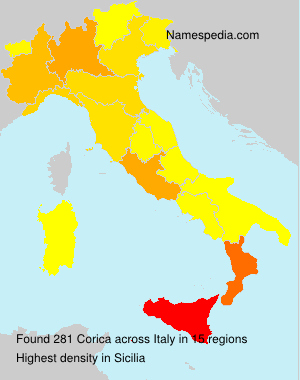 Surname Corica in Italy