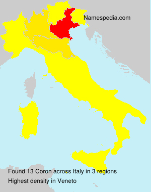Surname Coron in Italy
