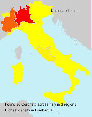 Surname Coronetti in Italy