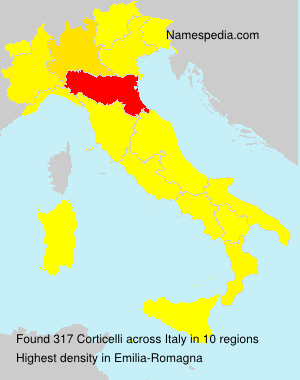 Surname Corticelli in Italy