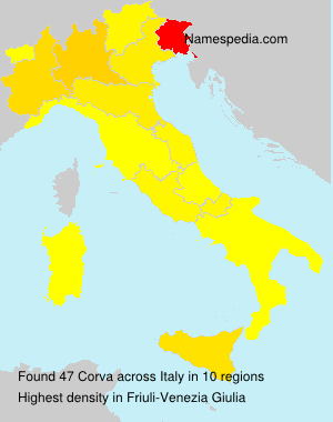 Surname Corva in Italy