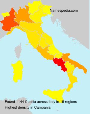 Surname Coscia in Italy