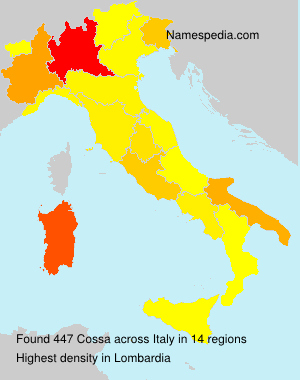 Surname Cossa in Italy