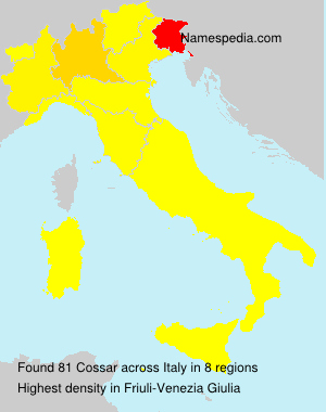 Surname Cossar in Italy