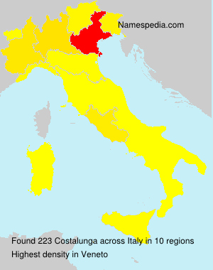 Surname Costalunga in Italy