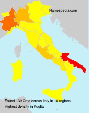 Familiennamen Cota - Italy