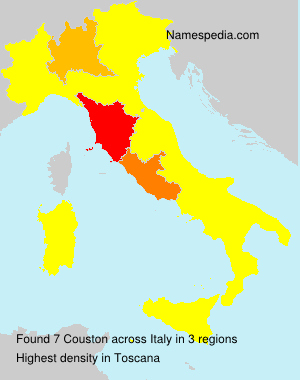 Familiennamen Couston - Italy