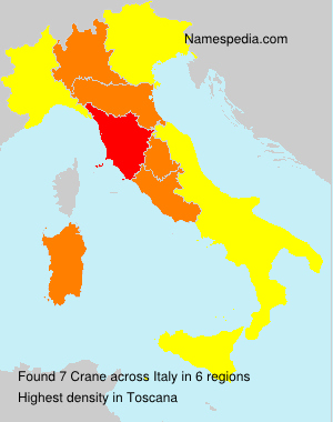 Surname Crane in Italy