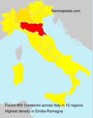 Surname Cremonini in Italy