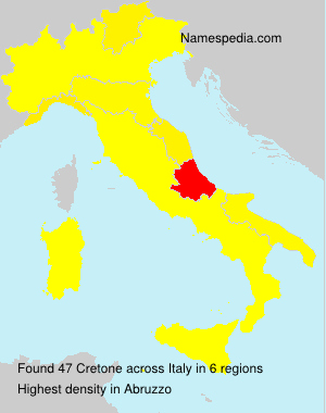 Surname Cretone in Italy