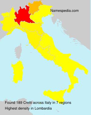 Surname Cretti in Italy